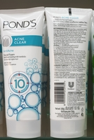 Ponds acne clear facial foam