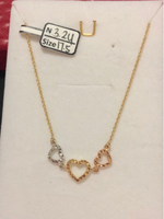 Necklaces tricolor with 3.24 grams
