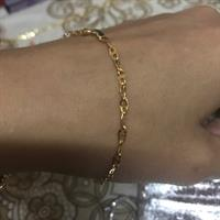 Used Braclet # 1.30 Grms #18k Real Gold# Saudi Gold#brandnew#serious Buyer Only#100 Percnt Authentic Gold in Dubai, UAE