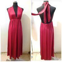 Used New stretchable dress backless red in Dubai, UAE