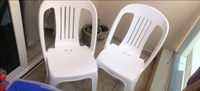 Used 2 pcs plastic chairs in Dubai, UAE