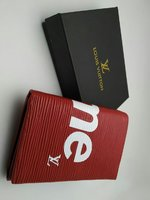 Used LV Wallet Supreme edition Red in Dubai, UAE