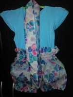 Floral Romper set, (1pc) 6 to 9 months