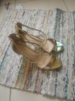 Golden Sandals. Size 41