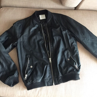 Bershka mens faux leather jacket