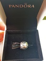 2pcs pandora charms - butterfly & crysta