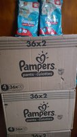 Used Pampers pants jumbo pack 144 pieces in Dubai, UAE