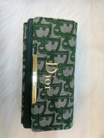 Used Dior green wallet design in Dubai, UAE