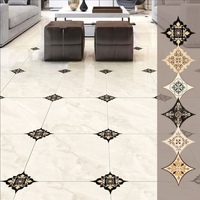 42 pcs diagonal tile decoratig stickers