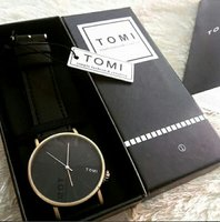 Used Original TOMI Leather Watch■ New withBOX in Dubai, UAE