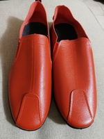 Used Orange color men shoes, size 39/ 40 in Dubai, UAE