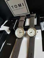 Used Couple leather Watches _ Original TOMI in Dubai, UAE