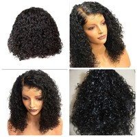Used New beautiful black curly wig in Dubai, UAE
