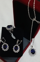 Used Lotus leaf jewellery 1 set/4pcs, silver in Dubai, UAE