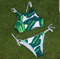 #brandnew #bikini #reversible #padded #sizemediumtolarge fits uk 10 to 12 #neverworn #leafdesign