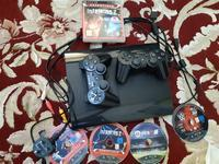 Used PlayStation 3 slim 2 controller 4 games in Dubai, UAE