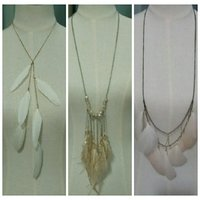3 Feather Necklaces