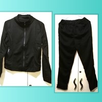 Used New zip training suit full black color in Dubai, UAE