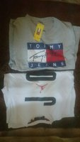 Used 2 shirt size M Tommy and Jordan copy in Dubai, UAE
