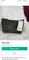 Used Zara leather crossbody in Dubai, UAE