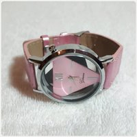 Pink Geneve watch for lady