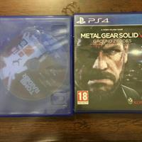 ps4 cd s tombraider and metalgear 4