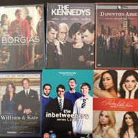 DVD Box Sets - Downton Abbey Season 2, The Kennedys Miniseries, The Borgias First season, Pretty Little Liars Season 2, The Inbetweeners Series 1,2,3 , William And Kate The Royal Romance. All 6 Including Delivery For Only 59dhs. All Open And Used But In Good Condition. Please Check Out My Profile For More Items.