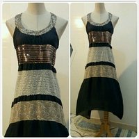 Dress round neck for lady