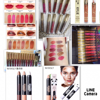 One Set Lipgloss 12 Awesome Colors Plus One Set Contour Creamy Panda Style ! Original Original Brand ! All In One Price !most Welcome