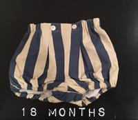 Used Baby Off-White And Navy Stripes Shorts. European Brand. Very Nice Quality. Sz 18 Months. Brand New! in Dubai, UAE