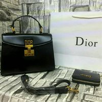 DIOR Charcoal Black HANDBAG  SET