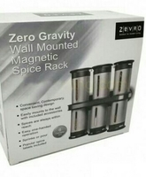 Zero Gravity Spice Rack ((6 Canister With 3 Way Bottle Function)) Unused