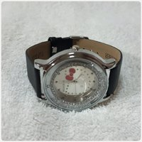 Amazing black hello kitty watch