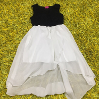BLACK AND WHITE DRESS FOR GIRL