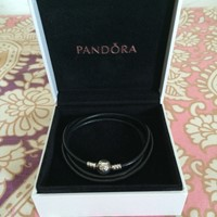 Used Original Pandora Leather Bracelet  in Dubai, UAE