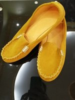 Used Mocassins new size 40 mustard colour in Dubai, UAE
