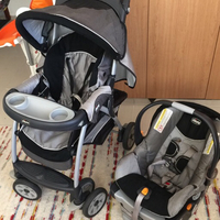 Used Baby stroller chicco brand with car seat in Dubai, UAE