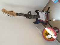 Used Busker stratocaster style electric guita in Dubai, UAE