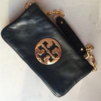 Authentic Tory Burch Reba Leather Clutch