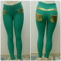 Jegging Slim fit Turquoise color for Her