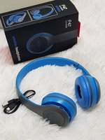 Used Blue Bluetooth headset P47 ; in Dubai, UAE