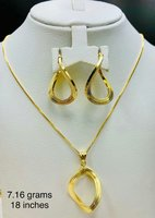 Necklace&Earrings Set 18k RealGold Italy