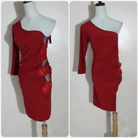 Used Red amazing short dress for lady. in Dubai, UAE