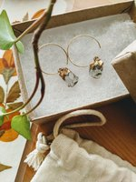 Used Green Amethyst Drop Earring - Rough Cut in Dubai, UAE