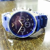 Used Armani Brand New Replica Master High Quality Matt Blue Colour Strap Rubber And Mettal Also Good Quality ........Hurrrrrrrrrrryyy!!!!!!!!!! in Dubai, UAE