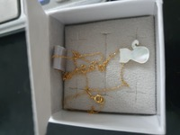 Used New real gold and MOP cat necklace in Dubai, UAE
