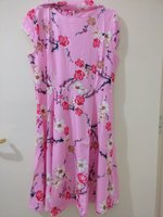Used Pink/ black&white dress floral in Dubai, UAE