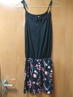 Black and floral Dress, 1pc