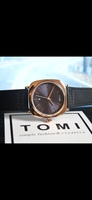 Used 🆕️  Original TOMI Leather Watch ° ✅ Box in Dubai, UAE