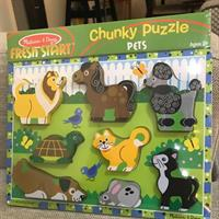 Melissa&doug CHUNKY PUZZLE Pets. Brand New Still In Packaging.
